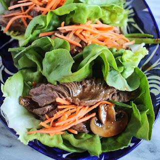 Beef and Mushroom Lettuce Wraps