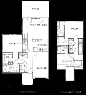 Marblewood Townhome Floorplan Diagram