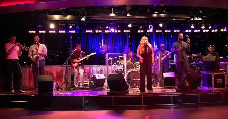 The B.B. King All-Star Band performing on Holland America's ship ms Oosterdam.