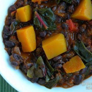 Black Bean Chili with Butternut Squash & Swiss Chard