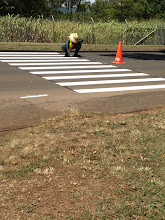Photo: They're removing the crosswalk across the school and are moving it closer to the sidewalk.