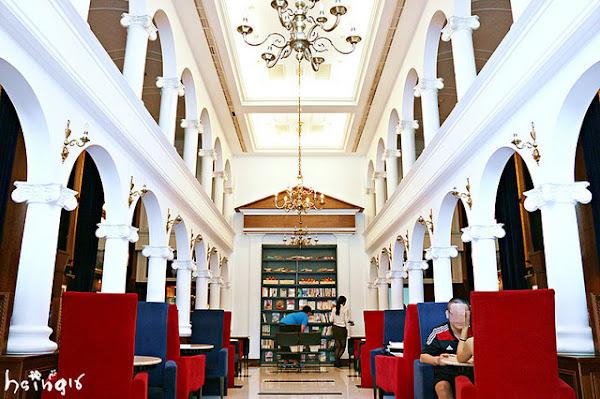 Moooon River Cafe & Books*華麗歐式圖書館裡喝咖啡 不限時咖啡店 港墘站美食特色餐廳 沙拉/三明治/義大利麵/鬆餅