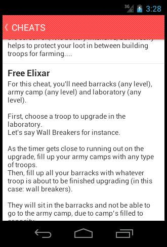 Cheats for Clash of Clans 1.02 screenshots 2