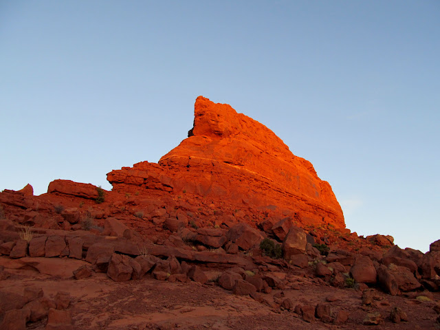 Last light on Lizard Rock