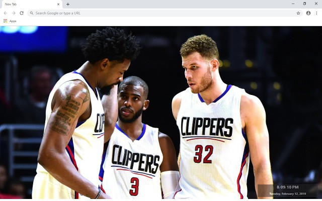 LA Clippers NBA New Tab Theme