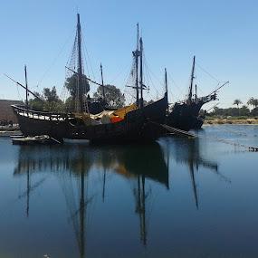 La Rábida, Huelva by Luis Felipe Moreno Vázquez - Instagram & Mobile Android ( carabelas, boats, huelva, sea, reflections, la rábida, spain )
