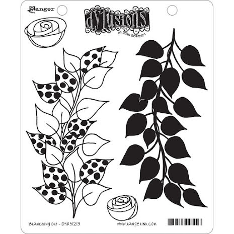 Dylusions Cling Stamps 8.5X7 - Branching Out