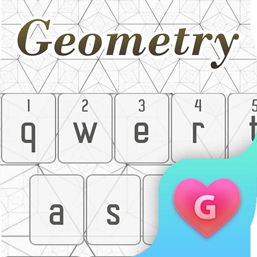 Girly Geometry Keyboard Theme for iPhone X