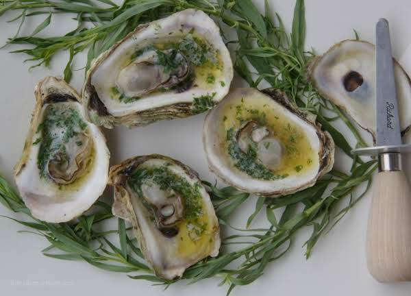 Grilled Oysters With Tarragon Butter Recipe