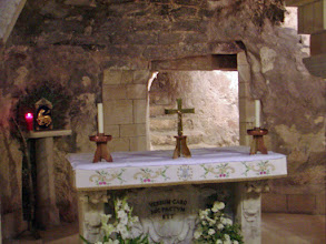 Photo: Mary's home in Nazareth is thought to have been on this site.