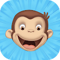 Angry curious george icon