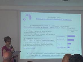 Photo: Gjurgica Kjaeva, de Macedonia, ha hablado sobre las tasas que se aplican sobre el tabaco, que se destinan a las enfermedades raras.