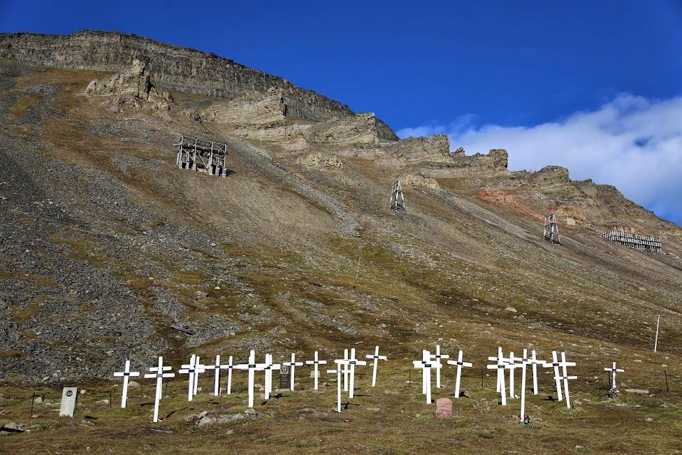 Longyearbyen, cmentarz, Svalbard ciekawostki