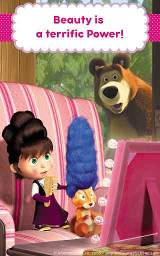 Masha and the Bear: Hair Salon and MakeUp Games 1.0.5 screenshots 15