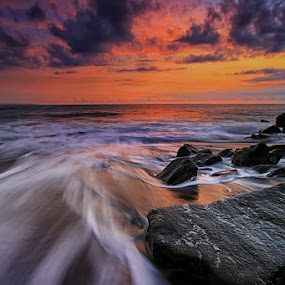 The Rocks by Krishna Mahaputra - Landscapes Waterscapes ( water, bali, sunset, landscape )