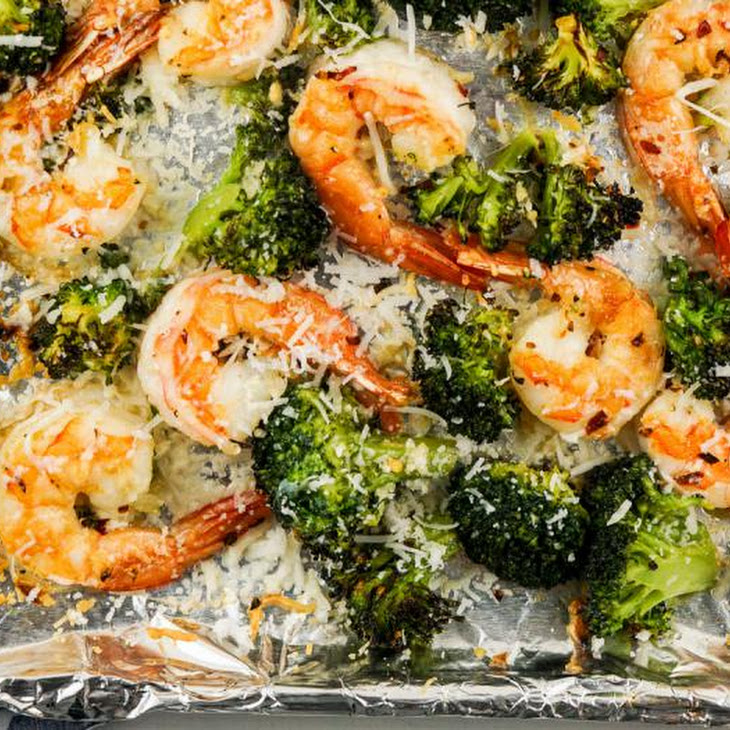 Garlic Parmesan Roasted Shrimp and Broccoli