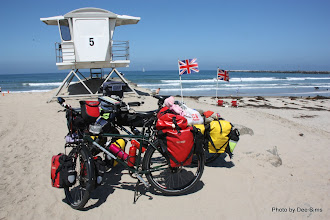 Photo: (Year 3) Day 32 - The Start of our Coast to Coast Ride Across the USA (The Pacific Ocean in San Diego)