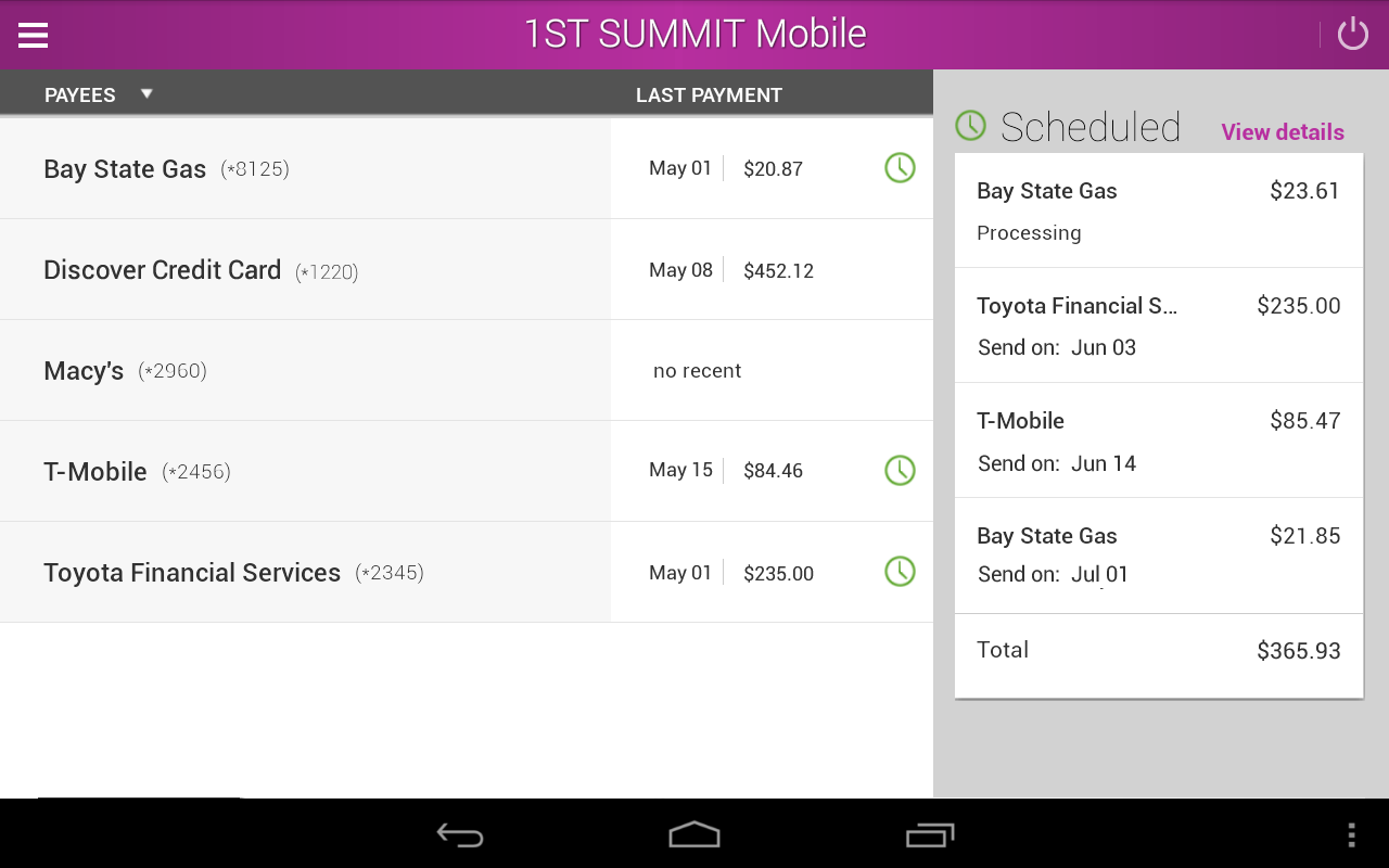 1ST SUMMIT BANK- screenshot