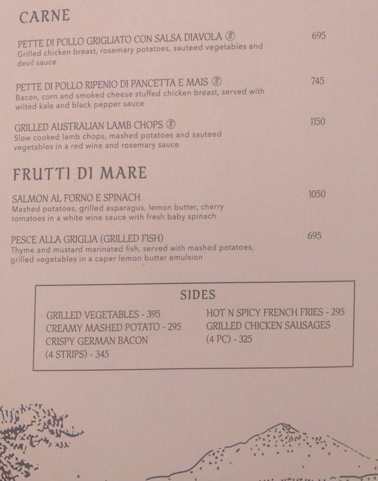Italiano menu 3