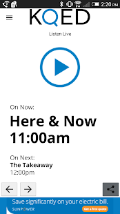 KQED Listen Live- screenshot thumbnail
