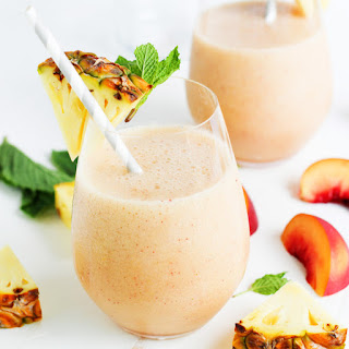 Pineapple Peach Mint Smoothie.