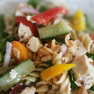 Grilled Chicken Feta Salad