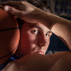 Titan by Tiffiny Dillow - Sports & Fitness Basketball ( basketball, sports, senior portrait, seniors, dramatic )