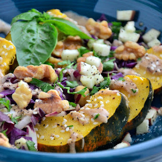 Acorn Squash Bowl with 'Creamy' Cider and Spice Dressing {Gluten-Free, Dairy-Free, Soy-Free, Vegan, Paleo} Recipe