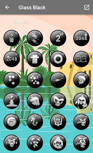 Glass Black - Icon Pack Screenshot