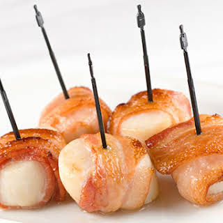 Bacon-Wrapped Scallop Rolls.