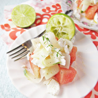 Pickled Watermelon and Goat Cheese Salad