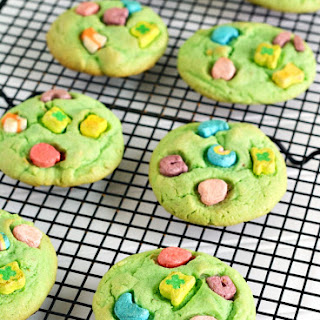 Lucky Charms Pistachio Pudding Cookies