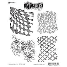 Dylusions Cling Stamps 8.5X7 - Background Love
