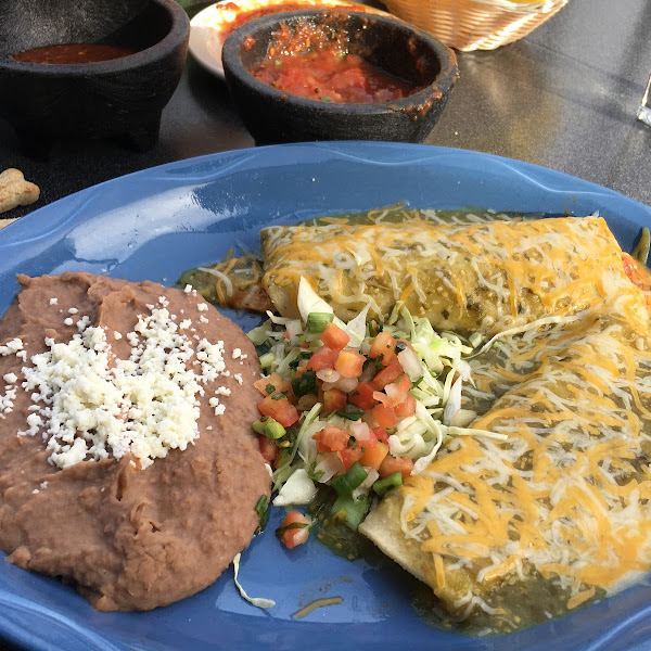 Combo Two w Chicken and Cheese Enchiladas