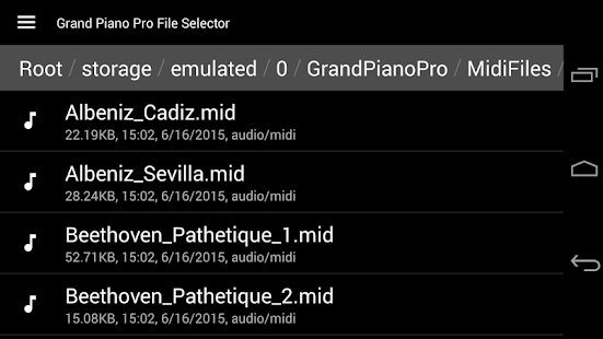 Grand Piano Pro - MIDI/USB Screenshot