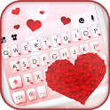 Red Hearts Keyboard Background icon