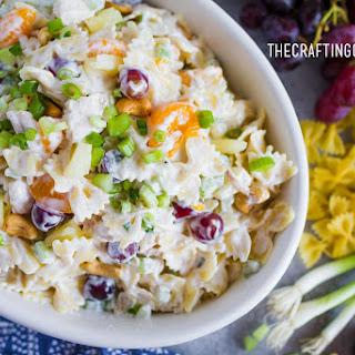 Chicken Bowtie Pasta Salad.