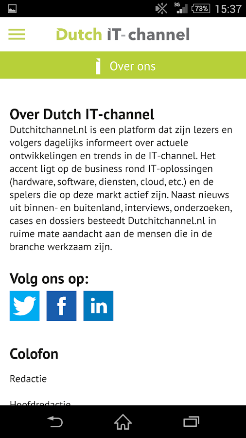 Dutch IT Channel: screenshot