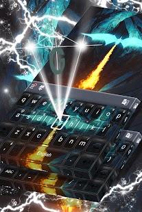 Klávesnice Neon Blue Dragon - náhled