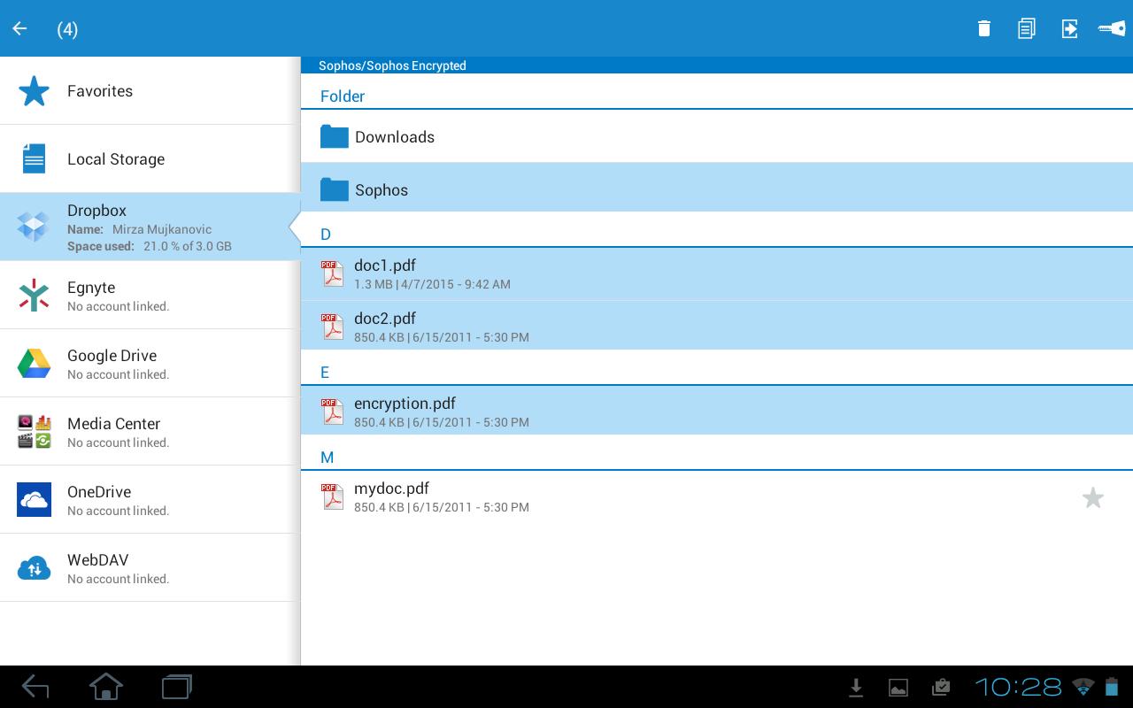Sophos Secure Workspace - screenshot