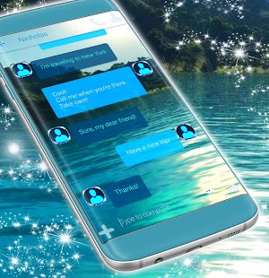 Mountain Lake Theme for SMS - náhled