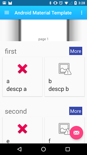 Material Template For Android