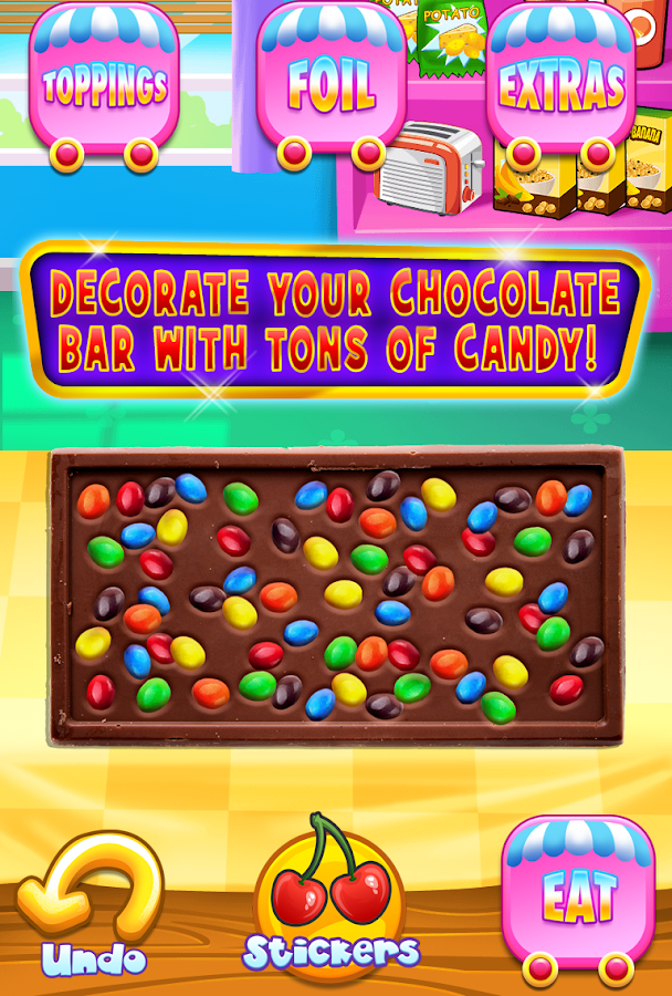 Chocolate candy bar maker free android apps on google play for Food bar games free online