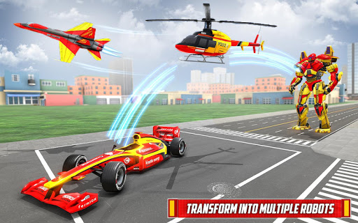 Helicopter Robot Transform: Formula Car Robot Game filehippodl screenshot 6