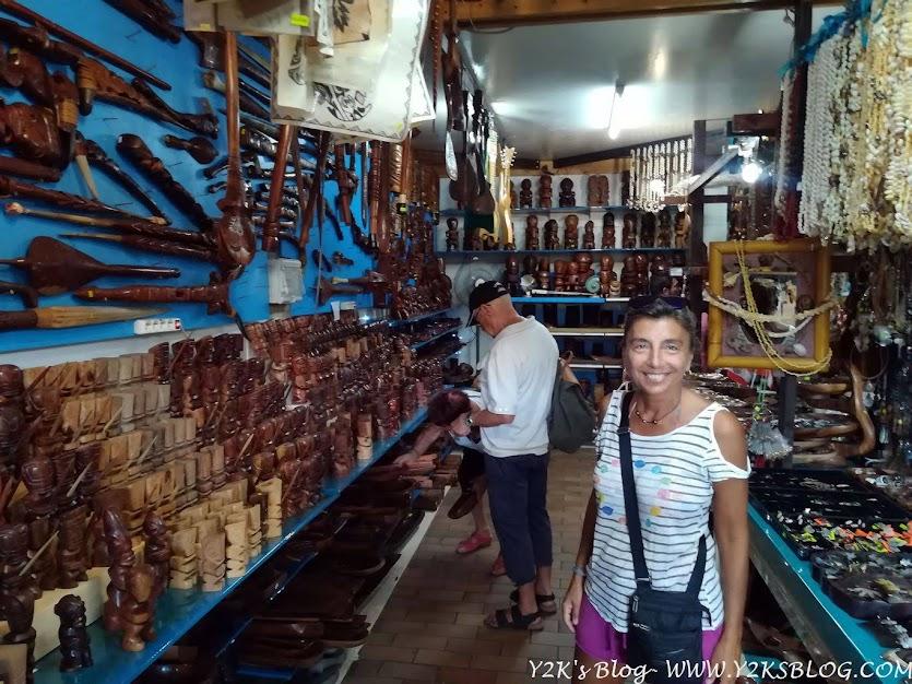 Artigianato Marchesano al mercato di Papeete - Tahiti