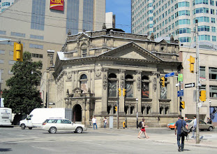 Photo: The Hockey Hall of Fame Building on Yonge Street, a block from our hotel.
