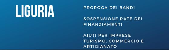 Aiuti coronavirus Liguria