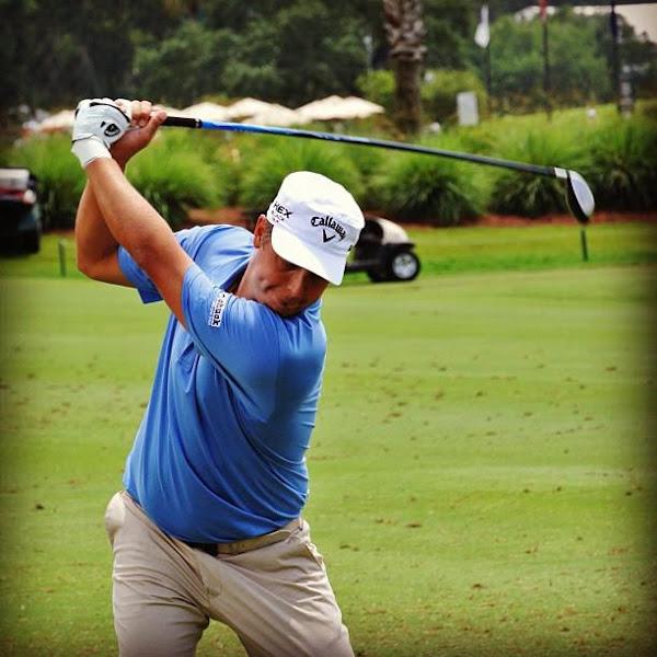 Photo: Freddie Jacobson getting some range time.
