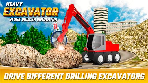 Heavy Excavator Stone Driller Simulator 1.0 screenshots 2