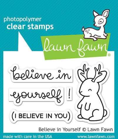 Lawn Fawn Clear Stamps 3X2 - Believe In Yourself